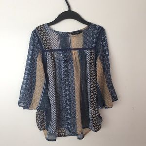 Blue and Gold Pretty Shirt